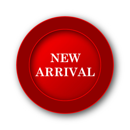 arrivals: New arrival icon. Internet button on white background.