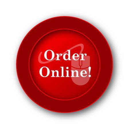 buy button: Order online icon. Internet button on white background.
