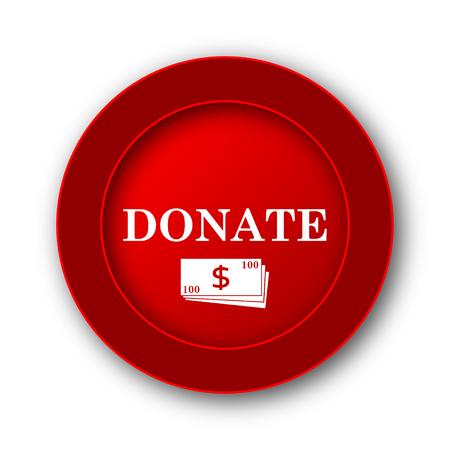 aiding: Donate icon. Internet button on white background.