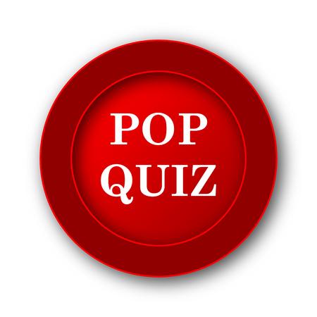 trivia: Pop quiz icon. Internet button on white background.