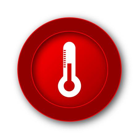 illness: Thermometer icon. Internet button on white background.