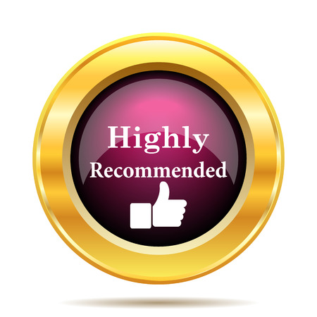 recommended: Highly recommended icon. Internet button on white background.