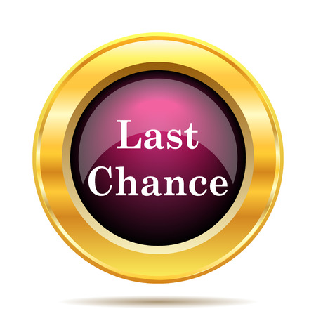 risky: Last chance icon. Internet button on white background. Stock Photo