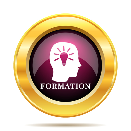 formation: Formation icon. Internet button on white background.