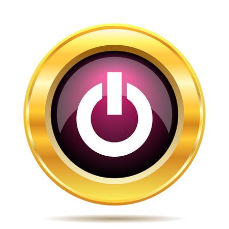 power button: Power button icon. Internet button on white background.