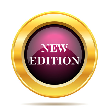 edition: New edition icon. Internet button on white background.