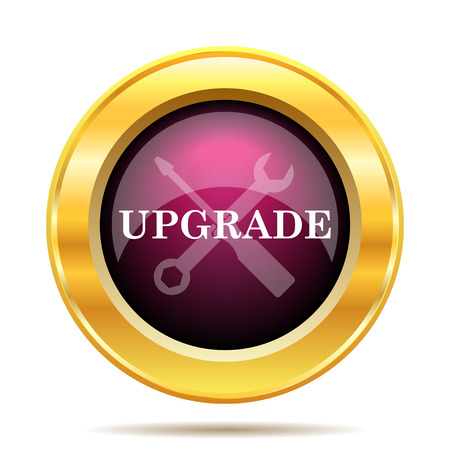 upgrade: Upgrade icon. Internet button on white background.