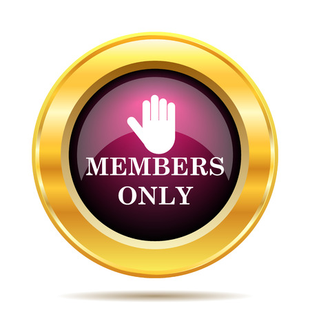 unauthorized: Members only icon. Internet button on white background.