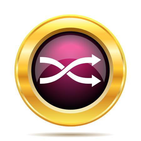 arrow icons: Shuffle icon. Internet button on white background.