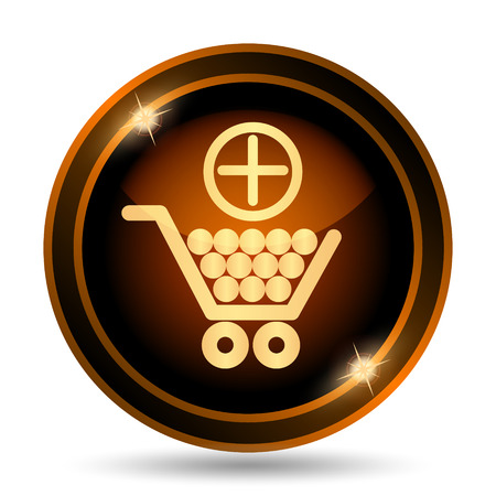 e pay: Add to shopping cart icon. Internet button on white background.
