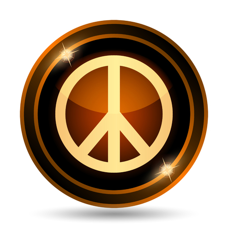 sixties: Peace icon. Internet button on white background.