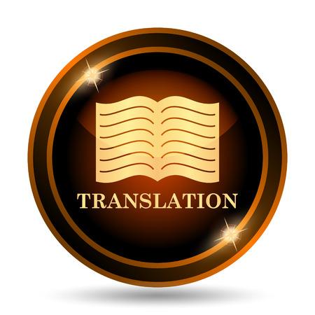 translation: Translation book icon. Internet button on white background.