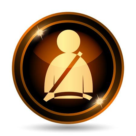 safety belt: Safety belt icon. Internet button on white background.