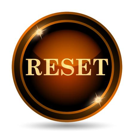 re do: Reset icon. Internet button on white background.