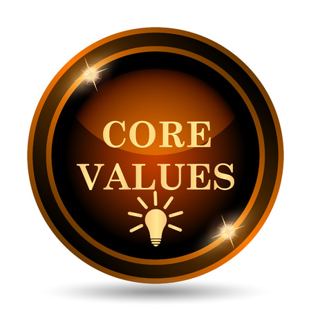 golden rule: Core values icon. Internet button on white background.