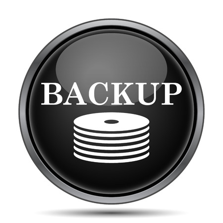 recover: Back-up icon. Internet button on white background.
