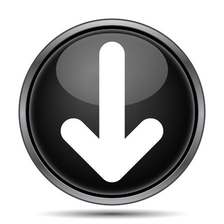 아래쪽 화살표 아이콘입니다. 흰색 배경에 인터넷 버튼을 누릅니다.