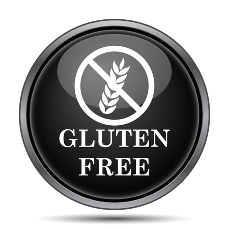 inspected: Gluten free icon. Internet button on white background.