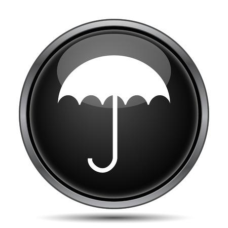 fall protection: Umbrella icon. Internet button on white background.