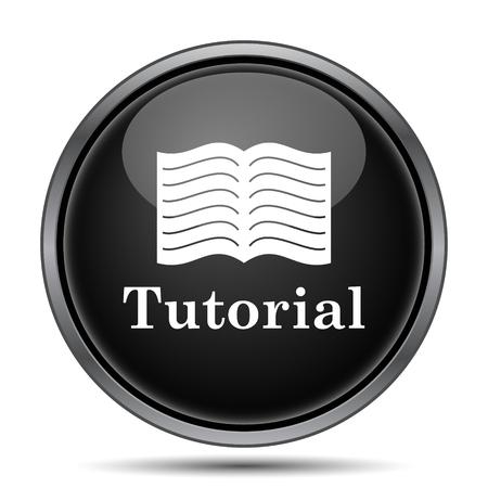 tutorial: Tutorial icon. Internet button on white background.
