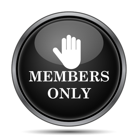 grant: Members only icon. Internet button on white background.