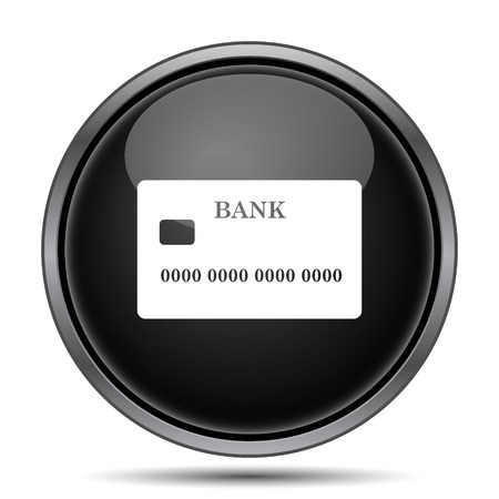 commercial activity: Card icon. Internet button on white background. Stock Photo