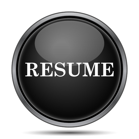 unoccupied: Resume icon. Internet button on white background.