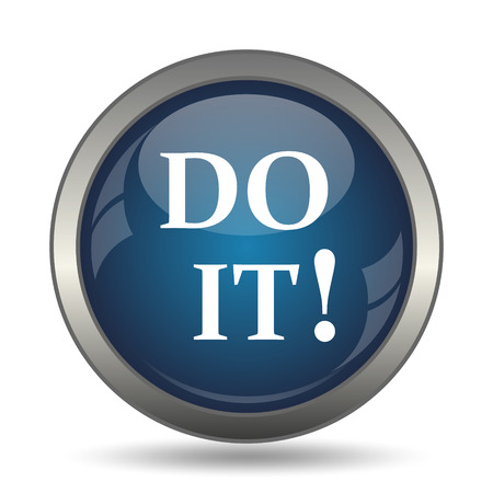 at it: Do it icon. Internet button on white background.