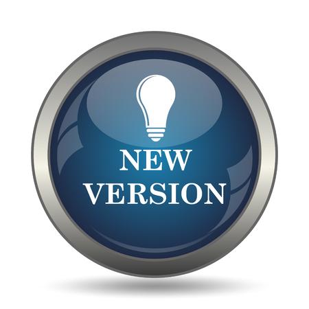 new generation: New version icon. Internet button on white background. Stock Photo
