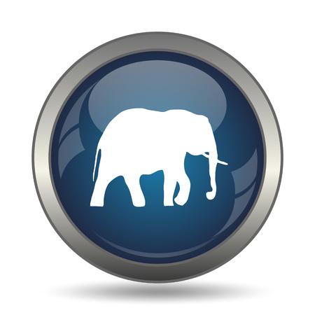 endanger: Elephant icon. Internet button on white background. Stock Photo