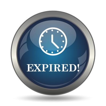 expire: Expired icon. Internet button on white background. Stock Photo