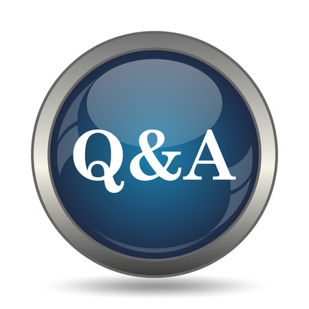 qa: Q&A icon. Internet button on white background.