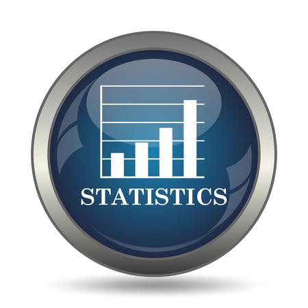 blue arrow: Statistics icon. Internet button on white background.