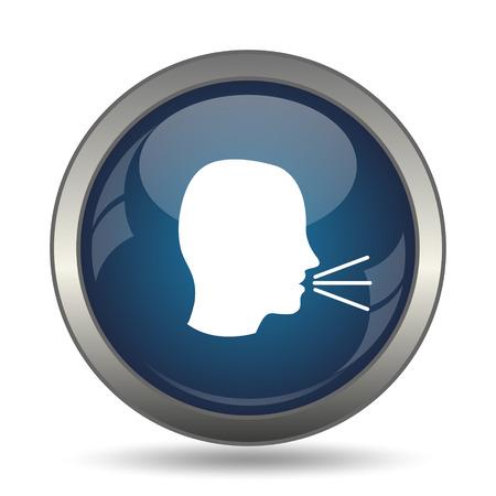 noisily: Talking icon. Internet button on white background.