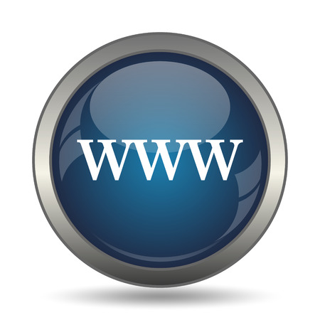 e commerce icon: WWW icon. Internet button on white background. Stock Photo