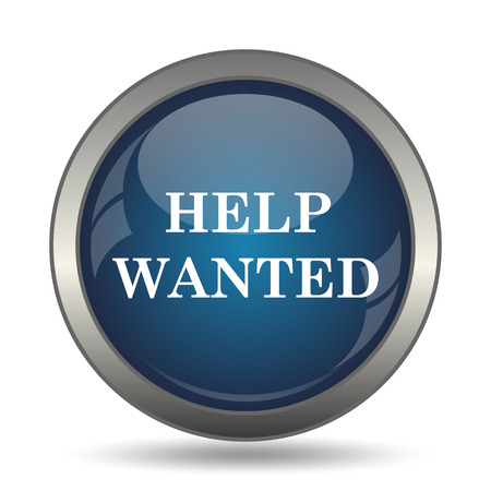 employers: Help wanted icon. Internet button on white background.