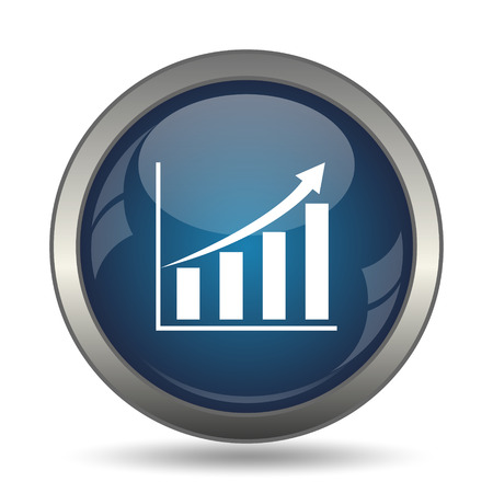 increases: Chart icon. Internet button on white background.