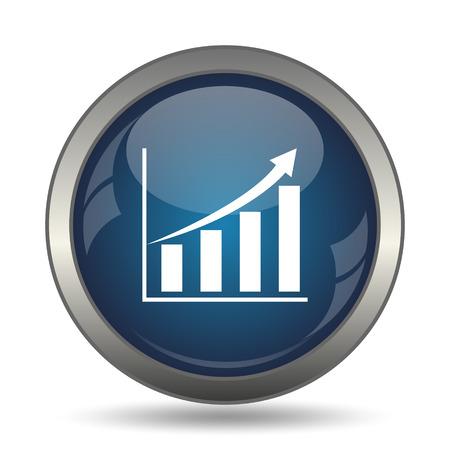 incremento: Gráfico icono. Botón de internet sobre fondo blanco.