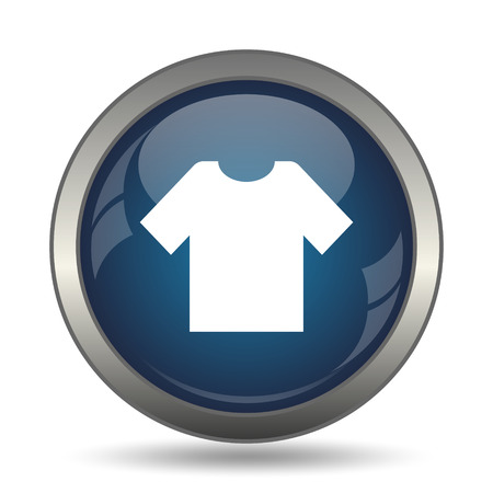 t shirt blue: T-short icon. Internet button on white background. Stock Photo