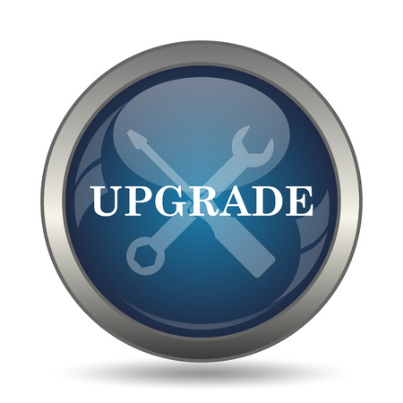 Upgrade icon. Internet button on white background.