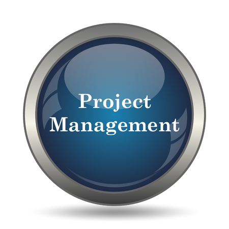 business management: Project management icon. Internet button on white background. Stock Photo