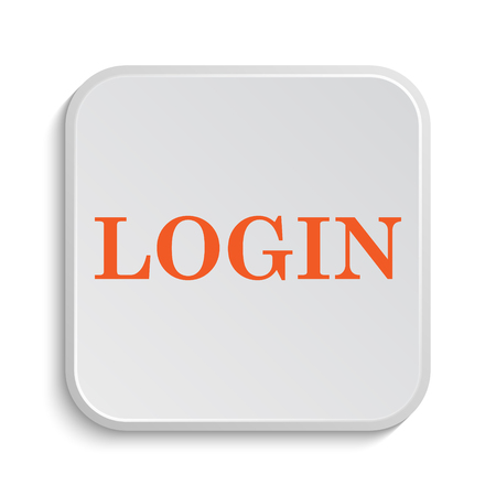 logging: Login icon. Internet button on white background. Stock Photo
