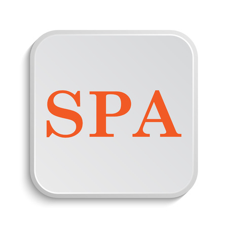 massage symbol: Spa icon. Internet button on white background.