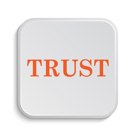 trust icon: Trust icon. Internet button on white background.