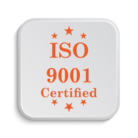 ISO9001 icon. Internet button on white background.