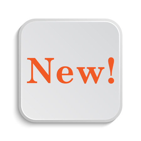 new icon: New icon. Internet button on white background. Stock Photo