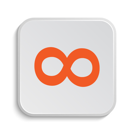 mobius loop: Infinity sign icon. Internet button on white background.