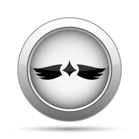 virtue: Wings icon. Internet button on white background. Stock Photo