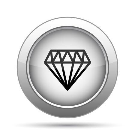 diamond background: Diamond icon. Internet button on white background.