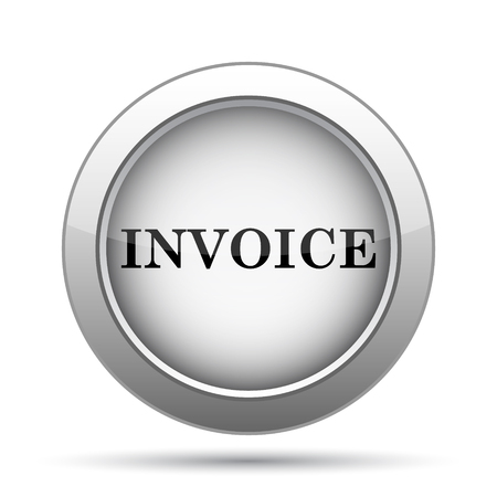 invoice: Invoice icon. Internet button on white background.